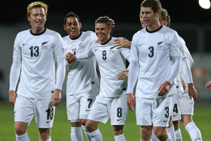 The All Whites were the biggest movers in the latest FIFA rankings released yesterday, moving up 30 places since May to be ranked 57th in the world. Photo / Getty Images.