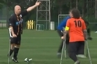 Passions run high in any international amputee soccer match. Photo / Video: 101unbelievablegoals.