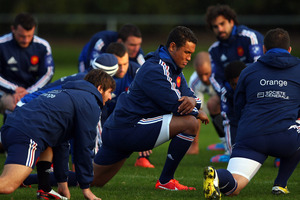 Thierry Dusautoir of France stretches during a France rugby training session at Onewa Domain. Photo / Getty Images.