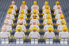 There are 6000 little Lego faces - and they're getting increasingly grumpier according to new research from the University of Canterbury. Photo / Dr Christoph Bartneck