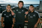 All Blacks new caps and Blues players, from left, Francis Saili, Steven Luatua and Charles Piutau have had only one full season of Super Rugby. Photo / Brett Phibbs