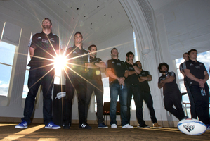 The spotlight's on new captain Kieran Read (left) and members of his squad as they prepare to face France in a three-test series this month. Photo / Brett Phibbs