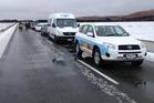 More than 100 motorists got stuck when Burke's Pass near Lake Tekapo had to be closed. Photo / Supplied