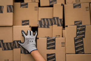 France is considering banning Amazon from offering free postage. Photo / Bloomberg