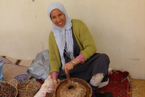 Oil from argan berries constitutes a lucrative export industry for Berber women. Photo / Graham Reid