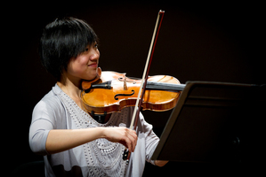 Aucklander Natalie Lin is the sole New Zealander in a field of six contesting the Michael Hill International Violin Competition. Photo / Sarah Ivey