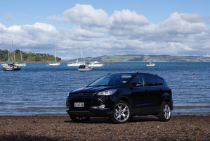 Kuga Titanium EcoBoost returned good fuel consumption from its island jaunt. Photo / David Linklater