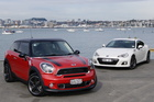 The new Mini Paceman meets Subaru's BRZ for the title of hottest sports car in New Zealand.Photo  / David Linklater