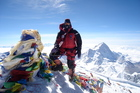 Mike Allsop on the summit of Mt Everest. Photo / Supplied