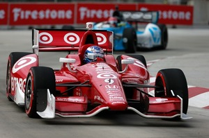 IndyCar driver Scott Dixon on his way to fourth place at Belle Isle, Detroit last weekend. Picture/Supplied