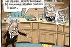 Peter Dunne's party de-registered, yet he continues to get the perks of party leader, and continues to deny leaking the GCSB finding. Image / Rod Emmerson