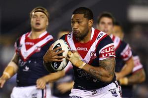 Frank-Paul Nuuausala has played 111 NRL games for the Roosters since he was released by the Warriors in 2006. Photo / Getty Images