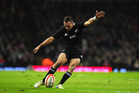 Aaron Cruden has kicked on in his time in the All Blacks shirt. Photo / Getty Images