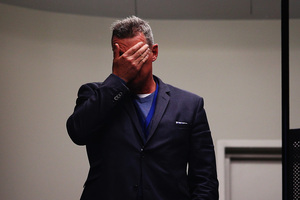 Head coach Sir John Kirwan of the Blues shows his disappointment. Photo / Getty Images
