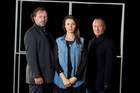 Andrew Grainger, left, Anna Jullienne and Simon Prast are starring in the Auckland Theatre Company production of Anne Boleyn. Photo / Natalie Slade