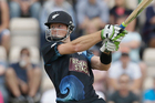 Martin Guptill said he was delighted to take the New Zealand ODI record from Lou Vincent. Photo / AP