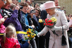 The Queen, still going strong after 60 years on the throne. Photo / AP