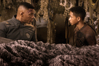 Will Smith, left, and Jaden Smith in a scene from