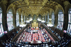 The vote is being held at a torrid time for the Lords, amid allegations that peers broke lobbying rules. Photo / AP