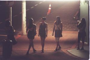 Street prostitutes around Hunters Corner in 2000.  Photo / NZ Herald