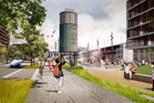 An artists' impression of the waterfront precinct of Wynyard Quarter. Photo / Supplied