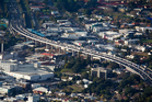 The viaduct marks the southern gateway to the CMJ - the busiest section of motorway in New Zealand Photo / Dean Purcell