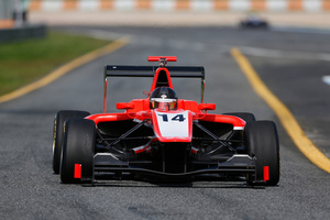 NZ Grand Prix winner Nick Cassidy put up solid times in testing the new GP3 car for Marussia Manor Racing at Estoril, Portugal. Photo / Bruce Jenkins
