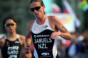 Wanaka's Nicky Samuels was the best of the Kiwis in 15th place at the ITU World Triathlon Series race in Madrid this morning (NZT). Photo / Getty Images.