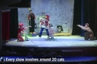 The Moscow Cat Theatre, which bills itself as one of a kind, has been wowing Russian audiences with its unusual combination of animal tricks and clowning about.