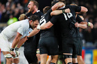 The All Blacks celebrate winning the 2011 Rugby World Cup final against France. Photo / Ron Burgin