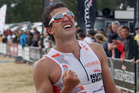 New Zealand triathlete Terenzo Bozzone has had to settle for second at the Long Distance Triathlon World Championship in France. Photo / Getty Images.