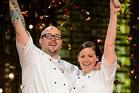 Dan and Steph Mulheron after winning My Kitchen Rules. Photo/Supplied