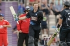 Martin Guptill's 189 not out, the highest score by a New Zealander in one-day internationals, led the visitors to 359 for three in the second match of the series.