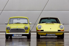 Porsche 911 and original Mini side by side. Photo / Supplied for Good Oil DRIVEN USE ONLY