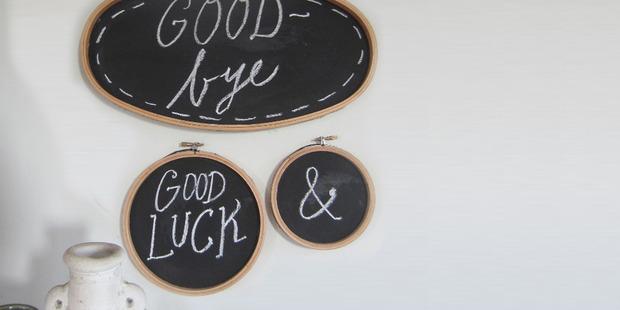Do it yourself craft blackboard.