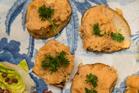 Southland Swede, Roasted Garlic on Potato Discs. Photo / Jason Burgess