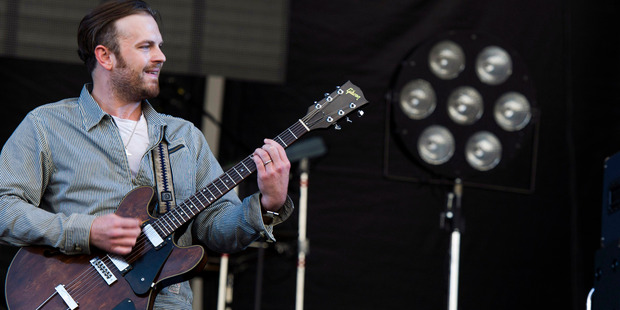 Caleb Followillperforms with Kings of Leon at the 3rd annual Governors Ball Music Festival. Photo / AP