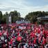 Supporters of Turkish Prime Minister Recep Tayyip Erdogan listen to his speech at the Ankara airport, Turkey. Photo / AP