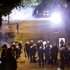 A tear gas projectile explodes as Turkish riot police charge towards protesters during clashes in Ankara, Turkey. Photo / AP