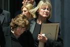 Millie Erceg (left) and Lynette Erceg, at the 2005 funeral of Michael Erceg. File photo / Brett Phibbs