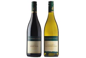 Palliser Estate Pinot Noir and Sauvignon Blanc.