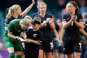 The New Zealand women's football side are keen to beat Australia for the first time in nearly 20 years. Photo / Getty Images.