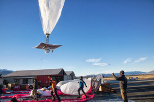 Google is testing the balloons which sail in the stratosphere and beam the Internet to Earth. Photo / AP