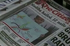 """Nelson Mandela has been """"responding well to treatment"""", South Africa's government said Thursday, on his sixth day in hospital for a lung infection, where he was visited by his daughter Zindzi."""