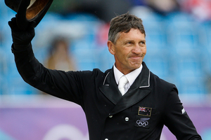 Andrew Nicholson is sitting handily in third place after the dressage overnight at the top-ranking Luhmuhlen CCI4 in Germany. Photo / Brett Phibbs.