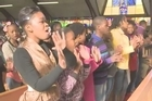 South Africa prayed for Nelson Mandela on Sunday as the ailing 94-year-old spent a second day in hospital with a renewed lung infection. The congregation at the Regina Mundi church in Soweto, a haven during the liberation struggle, prayed for the anti-apartheid hero and his increasingly regular health scares.
