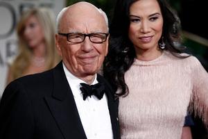 Rupert Murdoch and Wendi Deng. Photo / AP