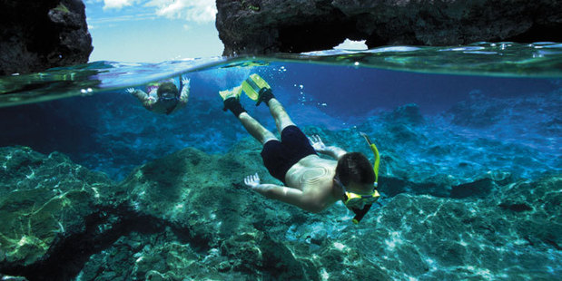 Snorkelling in Niue. Photo / Supplied