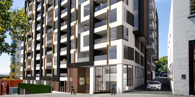 Developers are offering yet-to-be built blocks of apartments - Urba Residences at 5 Howe Street, Freemans Bay for $1000 down and then the remainder on deferred terms. Photo / Supplied