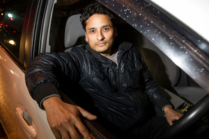 Dad-of-two, Parnav Kumar, says he would steer clear of tipsy passengers without a reliable in-cab camera. Photo / Kellie Blizard